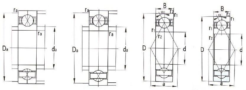 Brass-or-Iron-single-row-angular-contact-ball-bearing